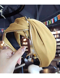 Fashion Yellow Pure Color Decorated Hair Hoop