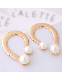 Fashion Gold Color Metal Question Mark Stud