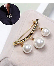 Fashion Gold Pearl Brooch