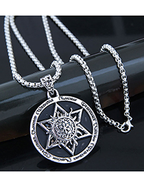 Fashion Silver Metal Six-color Glossy Round Long Necklace
