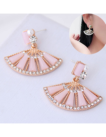 Fashion Pink Scalloped Earring