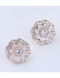 Fashion Gold Shell Rose Earrings