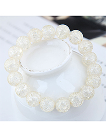 Fashion White Crystal Glass Bead Bracelet