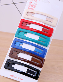 Fashion Color Square Hairpin