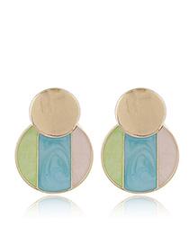 Fashion Blue 925 Silver Needle Stud Earrings