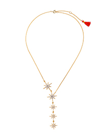 Fashion Gold Color Starfish Shape Decorated Necklace