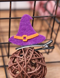 Fashion Purple Hat Shape Decorated Cosplay Hair Clip