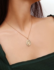 Fashion Gold Color Jesus Shape Decorated Necklace