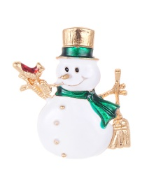 Fashion White Snowman Shape Decorated Brooch