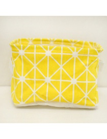 Fashion Yellow Grid Pattern Decorated Storage Bag