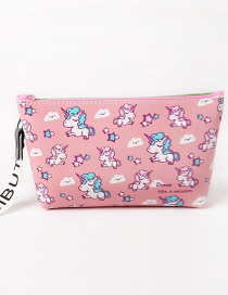 Fashion Pink Unicorn Pattern Decorated Storage Bag
