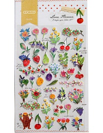 Fashion Multi-color Flower Shape Decorated Sticker