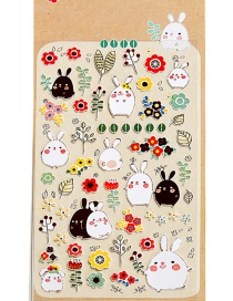 Fashion Multi-color Rabbit Shape Decorated Sticker