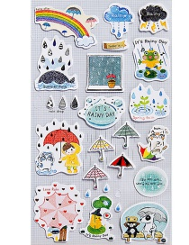 Fashion Multi-color Umbrella Shape Decorated Sticker