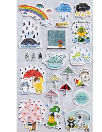 Fashion Multi-color Umbrella Shape Decorated Sticker