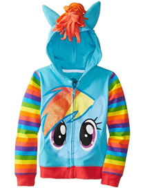 Fashion Blue Horse Shape Decorated Coat