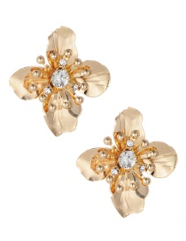 Fashion Gold Color Flower Shape Decorated Earrings Reviews