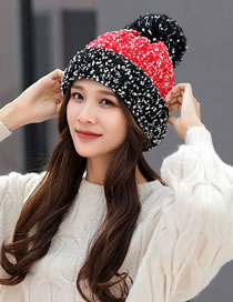 Fashion Red+black Color-matching Decorated Hat