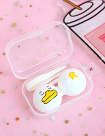 Fashion White Duck Pattern Decorated Contact Lens Box