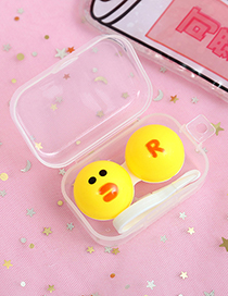 Fashion Yellow Duck Pattern Decorated Contact Lens Box