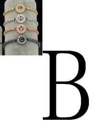 Fashion Silver Color Letter B Shape Decorated Bracelet