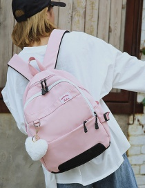 Fashion Pink Zipper Decorated Backpack
