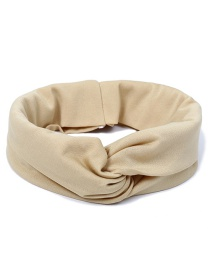 Fashion Khaki Pure Color Decorated Simple Hair Band