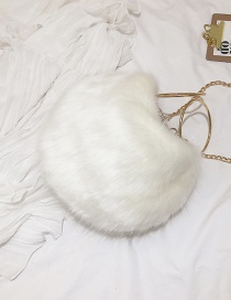 Fashion White Pure Color Decorated Bag