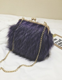 Fashion Navy Pure Color Decorated Bag