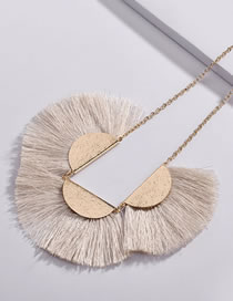 Fashion White Sector Shape Decorated Necklace