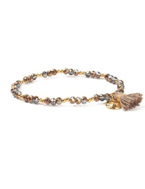 Fashion Silver Color+gold Color Tassel Decorated Bracelet