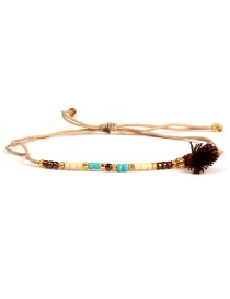 Fashion Dark Brown Short Tassel Decorated Bracelet
