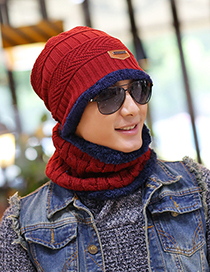 Fashion Red Stripe Pattern Decorated Hat