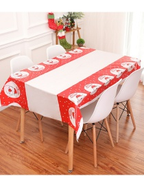 Fashion Red+white Santa Claus Pattern Decorated Tablecloth