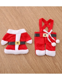 Fashion Red Christmas Costume Deisgn Cutlery Cover