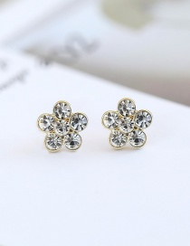 Fashion Gold Color Flower Shape Decorated Earrings