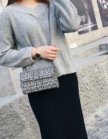 Fashion Gray Grid Pattern Decorated Shoulder Bag