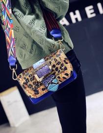 Fashion Multi-color Leopard Pattern Decorated Bag