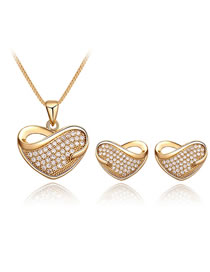 Fashion Gold Color Heart Shape Decorated Jewelry Set