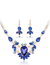 Fashion Blue Geometric Shape Decorated Jewelry Set