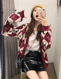 Fashion Red Horse Pattern Decorated Coat
