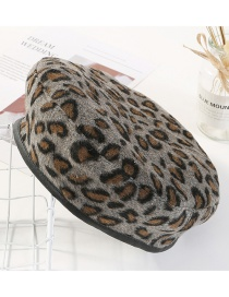 Fashion Gray Leopard Pattern Decorated Simple Hat