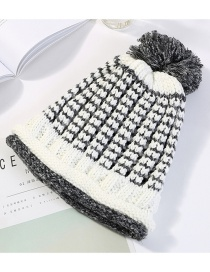 Fashion Milky White Double Layer Design Knitted Hat