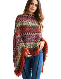 Fashion Multi-color Tassel Decorated Dual-use Sweater