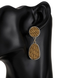 Fashion Brown Pure Color Decorated Earrings