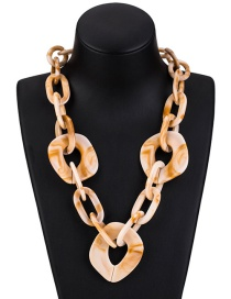 Fashion Light Brown Pure Color Decorated Necklace