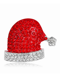 Fashion Red Diamond Decorated Brooch