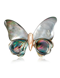 Fashion Multi-color Butterfly Shape Decorated Brooch