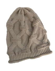 Fashion Khaki Pure Color Decorated Hat