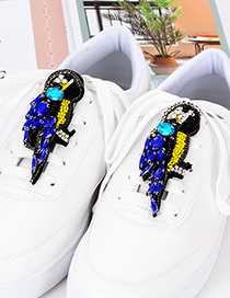 Fashion Sapphire Blue Bird Shape Decorated Shoes Accessories